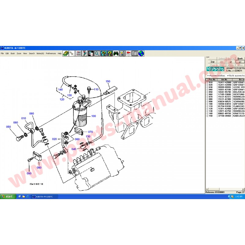 Kubota Parts Lookup : Kubota parts manual
